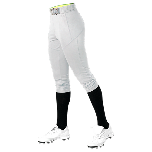 ALLESON GIRL'S FITTED SOFTBALL PANT - WHITE