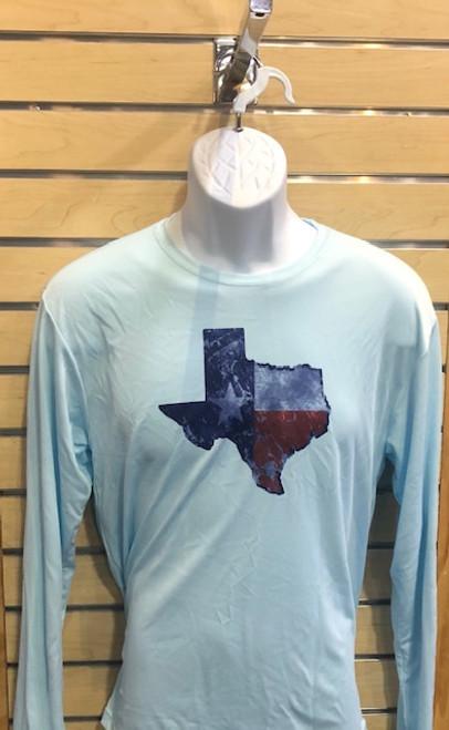 A4 KERRVILLE, TX LONG-SLEEVE RASH GUARD - PACIFIC BLUE