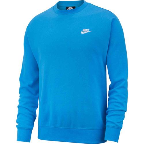 NIKE MEN'S CLUB LONG-SLEEVE CREW NECK - POWER BLUE