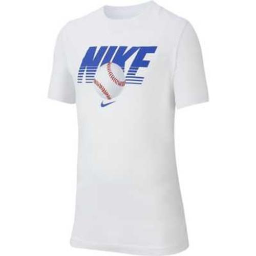 NIKE YOUTH BASEBALL TEE - WHITE