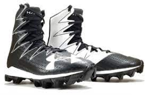 UA YOUTH HIGHLIGHT MID RM CLEAT - BLACK