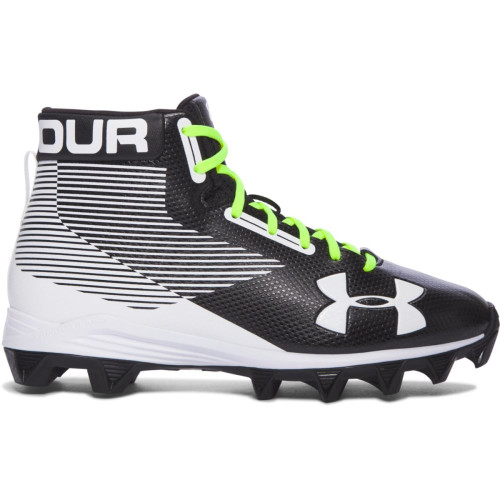 UA YOUTH HAMMER MID RM CLEAT- BLACK
