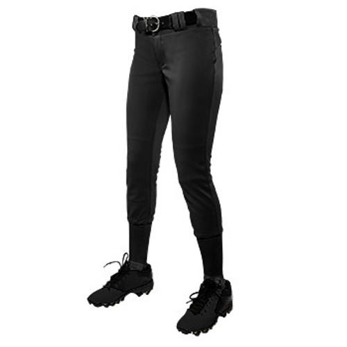 CHAMPRO WOMEN'S LOW RISE SOFTBALL PANT - BLACK