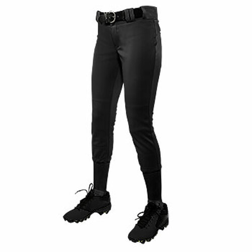 CHAMPRO GIRL'S LOW-RISE SOFTBALL PANT - BLACK