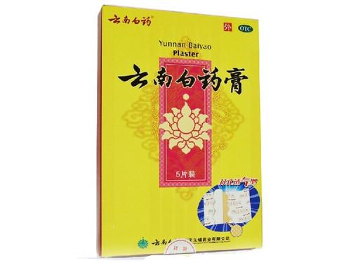 1 Box Yunnan Baiyao Plaster 5 Patches/Box