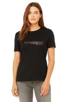 #SYNSQUAD Black Relaxed Tee