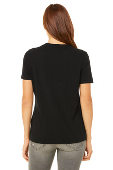 TEAMSYNERGY Black Relaxed Tee FRONT PRINT ONLY