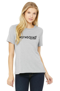 #SYNSQUAD Grey Relaxed Tee FRONT PRINT ONLY