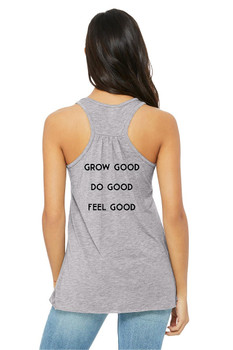 #SYNSQUAD Grey Racerback Tank Top