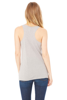 #SYNSQUAD Grey Fitted Racerback Tank Top FRONT PRINT ONLY