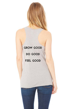 #SYNSQUAD Grey Fitted Racerback Tank Top