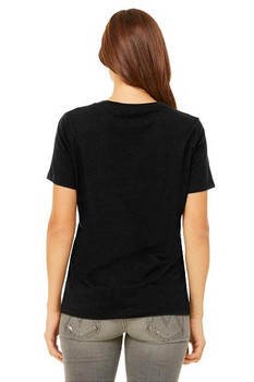 #SYNSQUAD Black Relaxed V-Neck FRONT PRINT ONLY