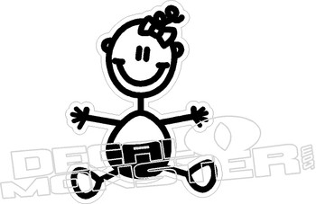 Baby stick family decal 170