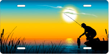 Fishing on Full Color Offset Auto Plate sku T9411D