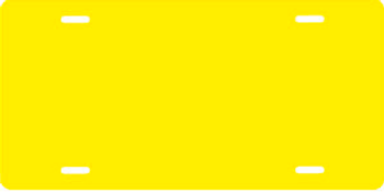 Solid Yellow Auto Plate sku T2805Y