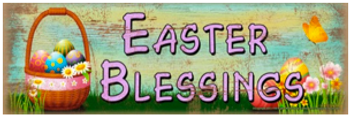 Easter Blessings Wood Sign sku WS305