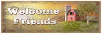 Welcome Friends Wood Sign sku WS306