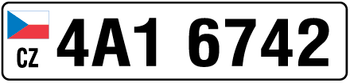 Czech Republic Euro Plate