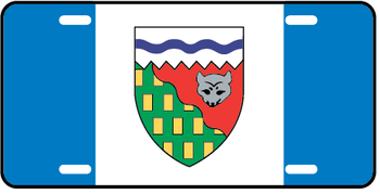 North West Territories Prov Flag Plate