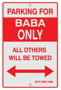 Parking For Baba Only