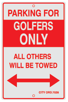 Parking For Golfers Only