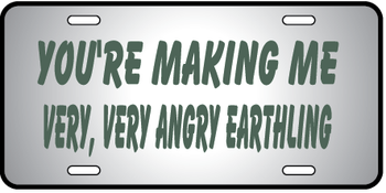 Very Angry Earthling Auto Plate