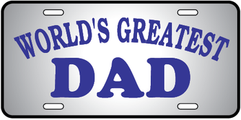 Worlds Greatest Dad Auto Plate