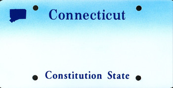 Connecticut State Auto Plate