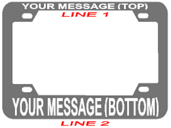**Make Your Own** Stainless Steel Motorcycle Rear Frame **2 Line Style**