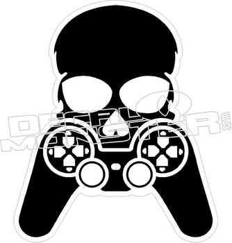 Gamer Skull Cross Bones Decal Sticker