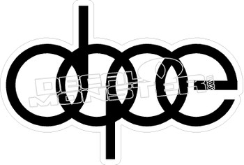 Dope Lettering Decal Sticker