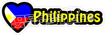 Love Philippines Decal Sticker