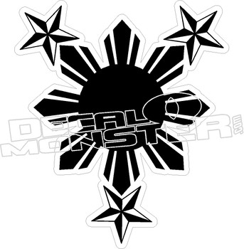 Philippines 10 Decal Sticker