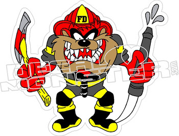 Taz Fire Department Decal Sticker