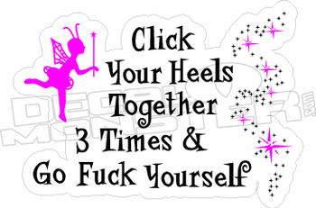 Click Your Heels Decal Sticker