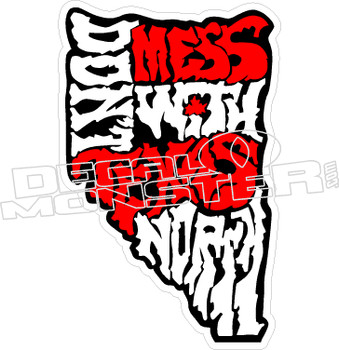 Don't Mess With Texas North Decal Sticker
