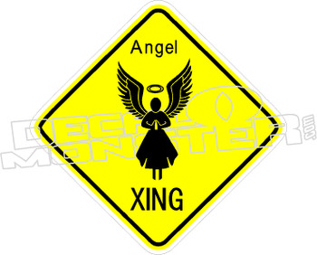 Angel Crossing Decal Sticker