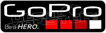 Go Pro Red Decal Sticker