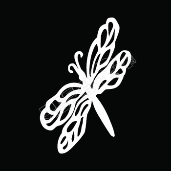 Dragonfly Tribal 51 Decal Sticker