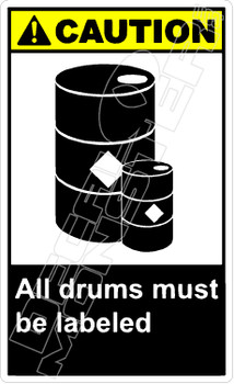 Caution 001V - all drums must be labeled