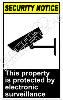 security 019V - this property is protected by electronic