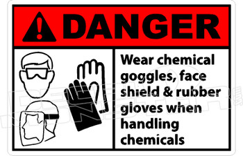 Danger 337H - wear chemical goggles, face shield & rubber gloves