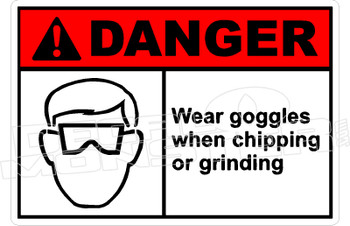 Danger 339H - wear goggles when chipping or grinding