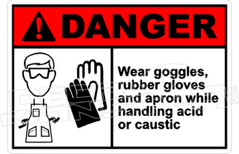 Danger 340H - wear goggles, rubber gloves and apron