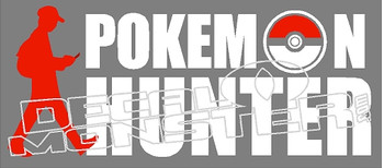 Pokemon Go Hunter Decal Sticker