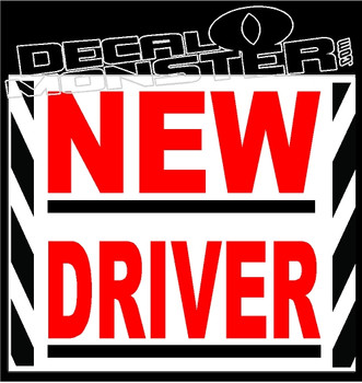 New Driver Decal Sticker