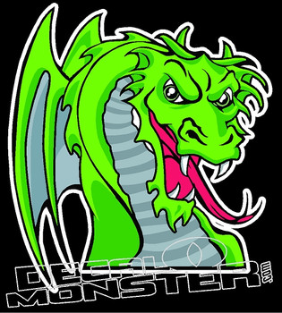 Dragon 3 Decal Sticker
