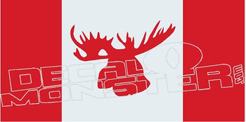 Canadian Flag Moose Edition Decal Sticker