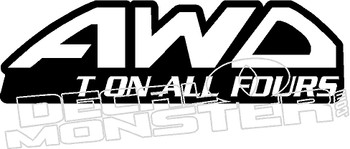 AWD Do It On All Fours MISSING PART Decal Sticker