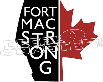 Fort Mac Strong Canadian Leaf Decal Sticker